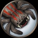 Token-round-giant-spider