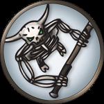 Token-round-minotaur-skeleton
