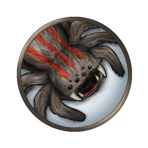 Token-round-giant-spider